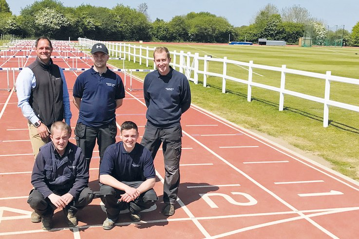 Simon Willems (back left) with the Sevenoaks School grounds care team