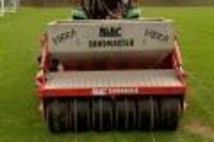 Blec Sand Slitter demo a great success at Aston Villa!
