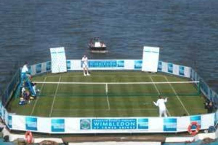 The Floating Tennis Court