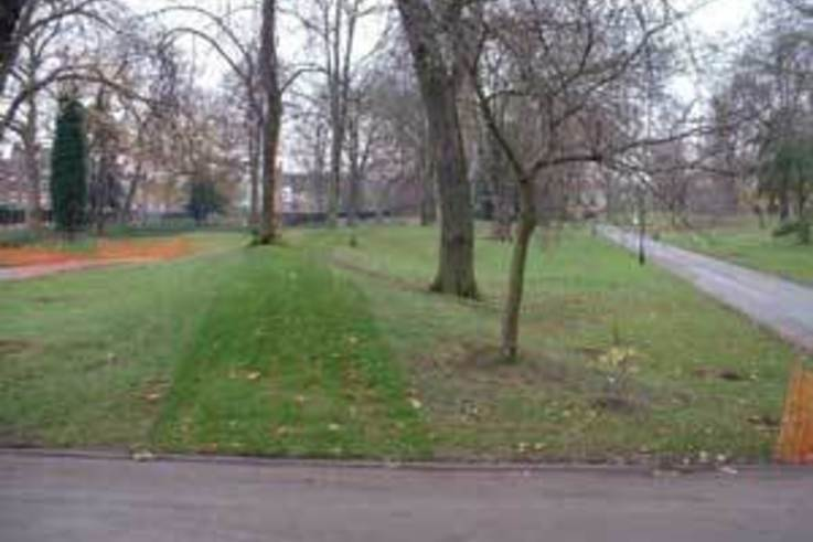 Turf adds final touch to England's first park