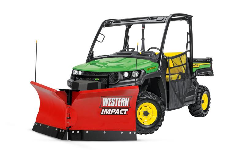 Western Impact snow plough on John Deere Gator A.jpg