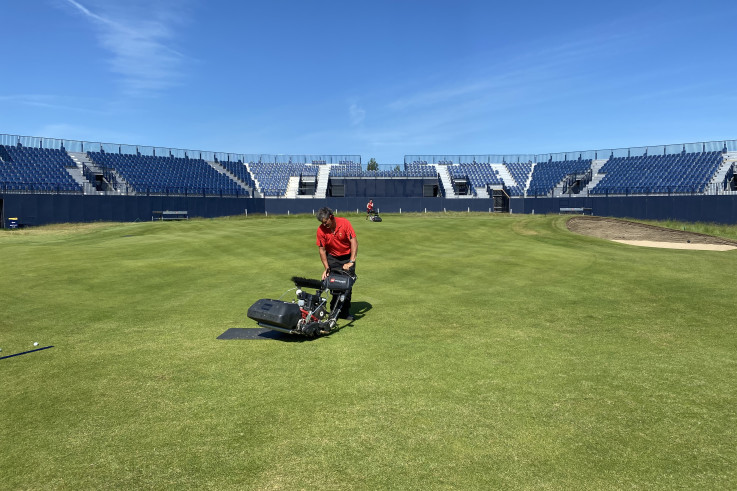 1 - The greenkeeping team hard at work, preparing the course for The Open with the help of Toro.jpg