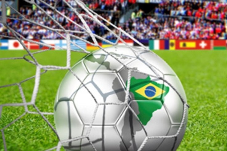 World Cup ball in net