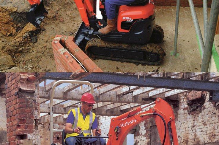 kubota excavators