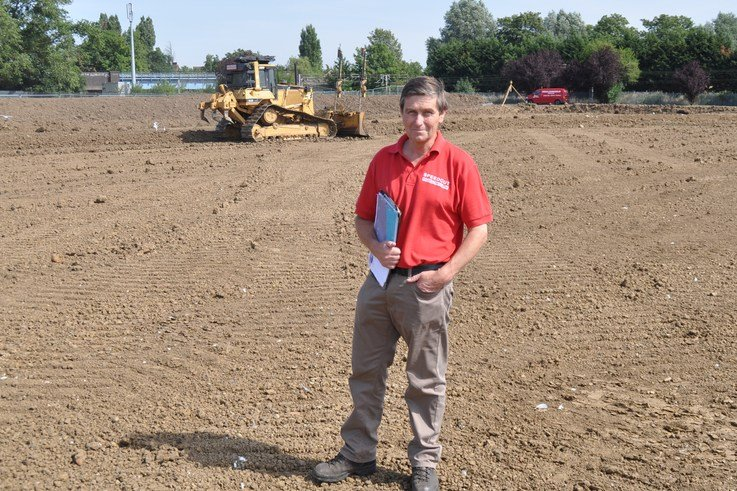 Speedcut Contractors contracts manager Kevin Smith at Northwick Park, Harrow. DSC 0962