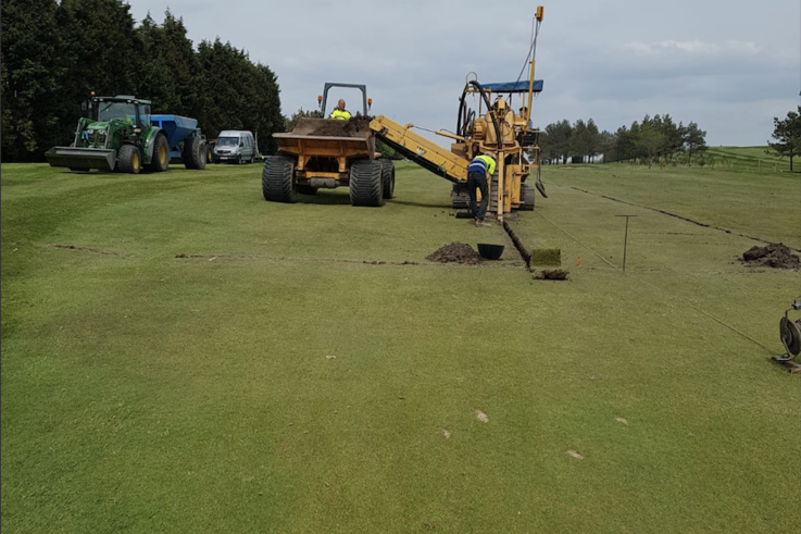 Duncan Ross - Trenching Out Drains On First Section Of The 3rd Fairway
