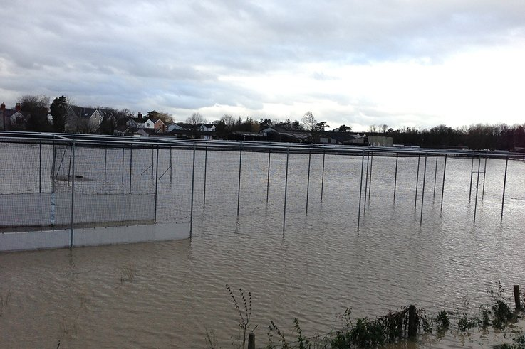 St Asaph\'s flooded ground