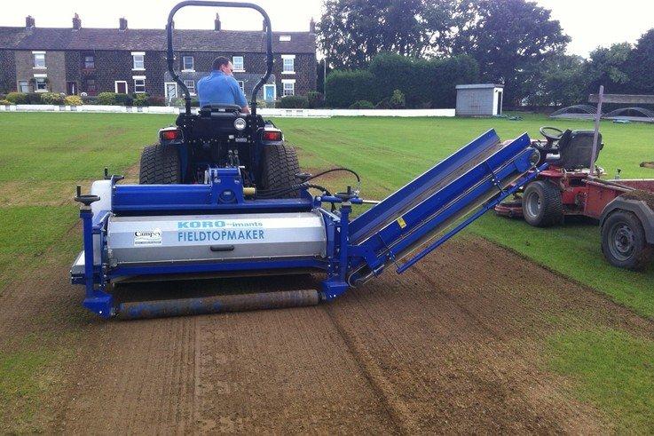 Koro FTM working on cricket pitch