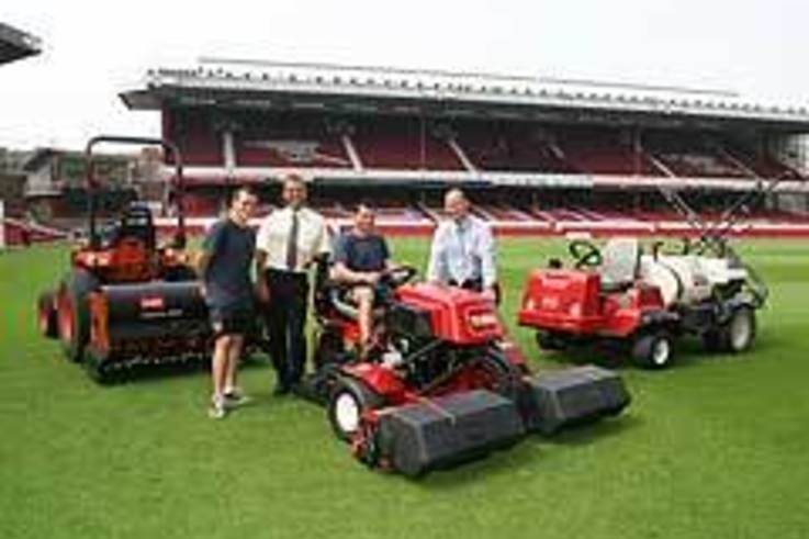 Arsenal make big cut in mowing time with new Toro Ride-on