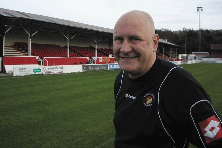 Ebbsfleet Chairman Phil Sonsara who found the club and his roll there on line.
