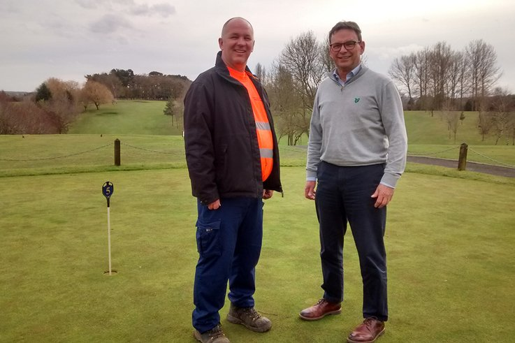 Left to Right Jason Cooper Head Greenkeeper and Office Manager Bryan Frazer Leamington & County Golf Club