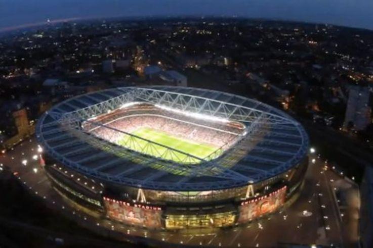 Nigel Wilson's drone over the Emirates Stadium