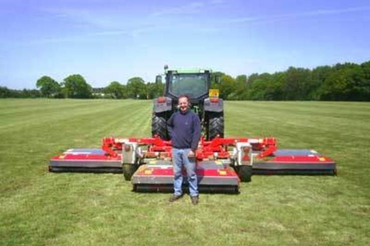 Mighty mower cuts maintenance to size