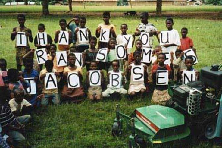 Ransomes Jacobsen Provide Mower for Ghanain School