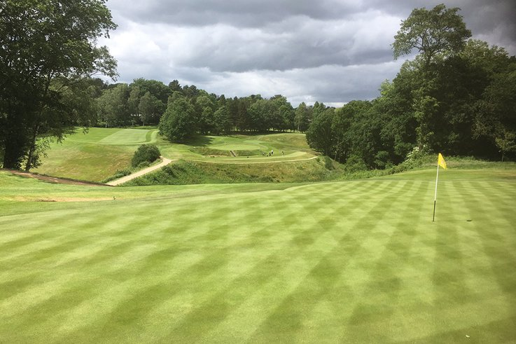 Mark's elevated position at Prestbury Golf Club