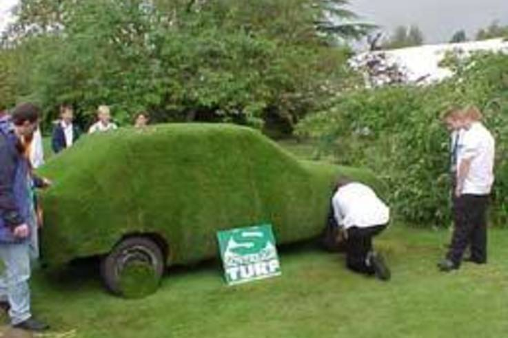 Turf car at Writtle College open day