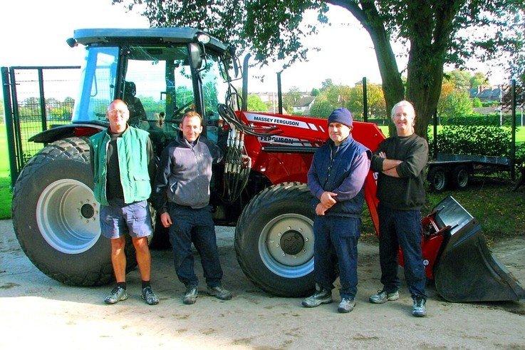 Schools' new MF 3625 tractor is