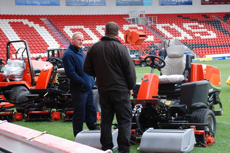 Successful demo day for Ransomes Jacobsens's New Dealer- Golf & Turf Machinery