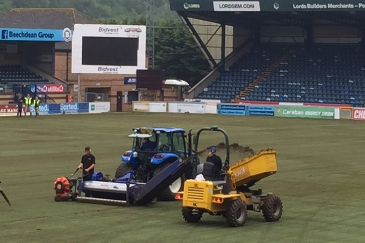 Working On The Annual Renovation At Wycombe Wanderers