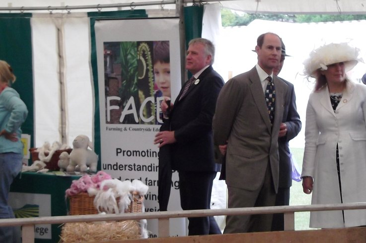 HRH The Earl of Wessex with David Lamb Plumpton College