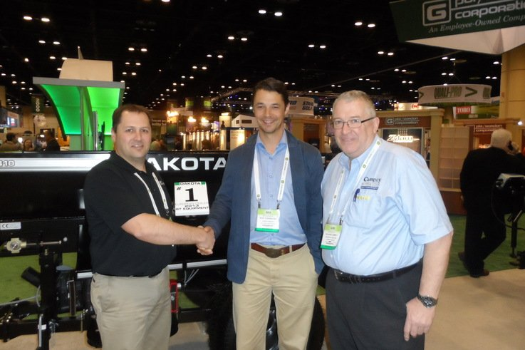 Orlando 2014 European Dealer Award from Dakota.Ryan Wood, Mark Trubenbacher and Richard Campey