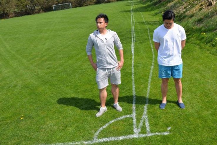 Wonky football pitch lines (1)