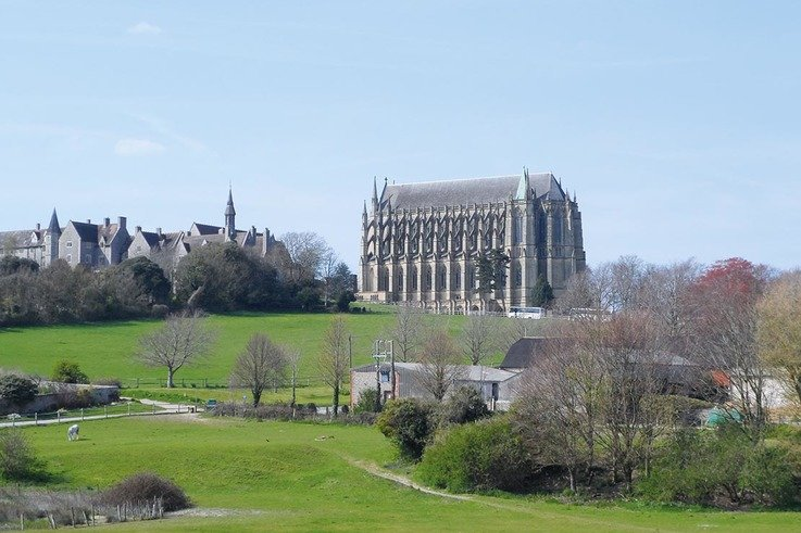LancingCollege and chapel, stables in foreground