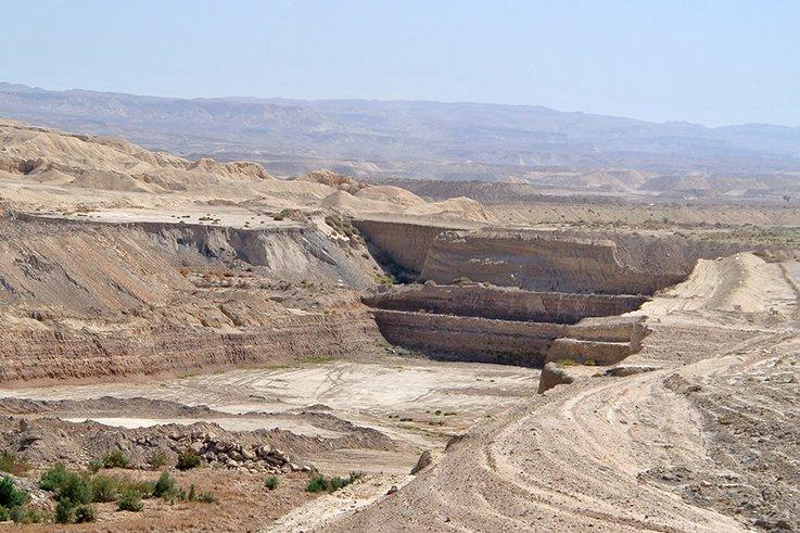 Phosphorite Mine Oron Israel 070313