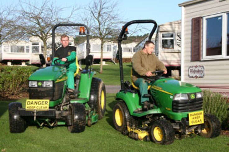 No Holiday for Park's Mowers
