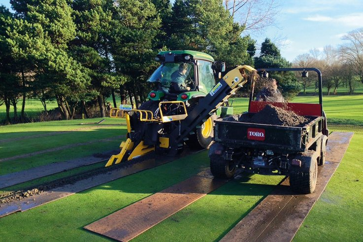 Low Laithes GC greens machines