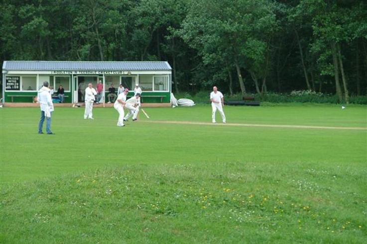 Middleton in Teesdale Cricket Club in play