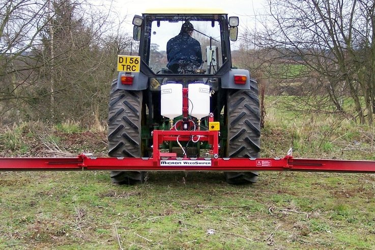 Micron WeedSwiper.  6m tractor mounted unit