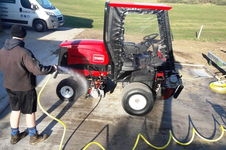 Fleetwood GC wash off with new ClearWater system