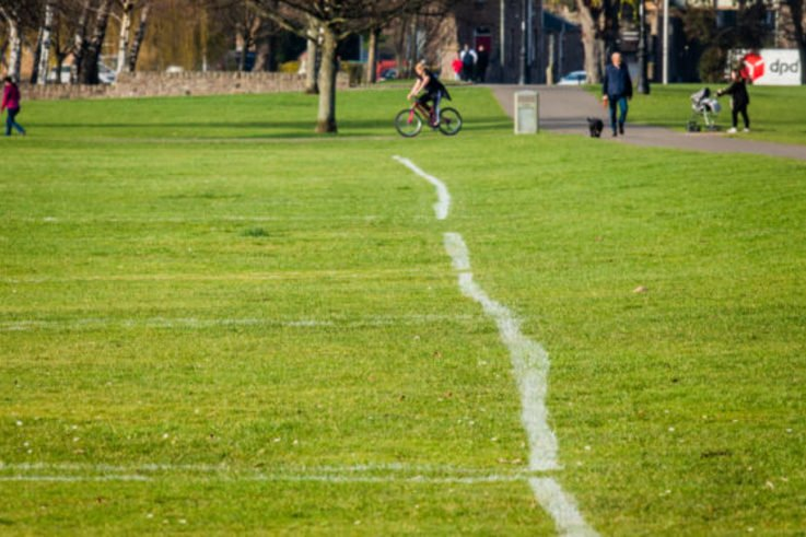 Wonky Lined Football Pitch