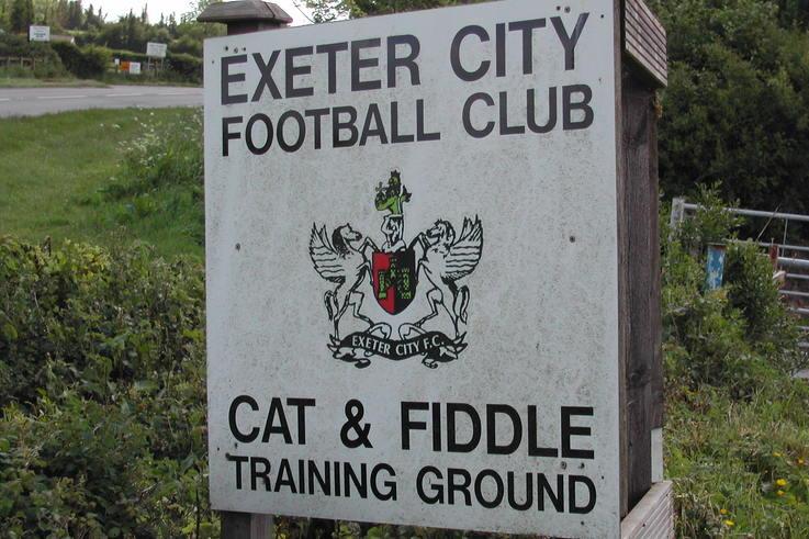 Exeter City FC training ground sign.JPG