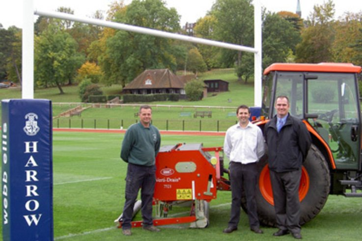 Verti- Drain Comes top at Harrow School.