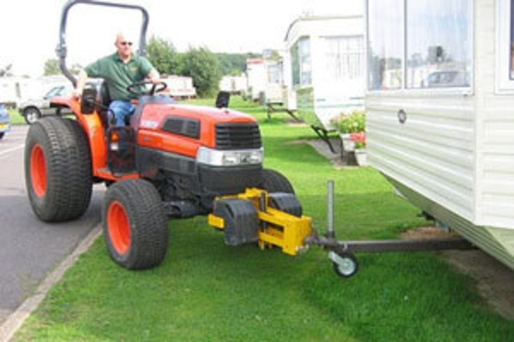 Purpose-designed hitches make Tractors ideal for holiday homes' movement