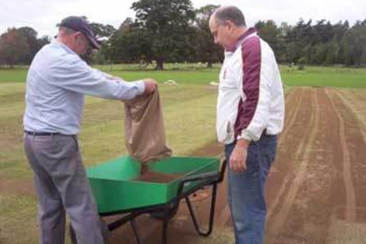 Autumn renovation on natural turf facilities