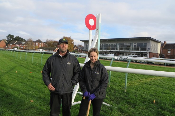 Guy and Jane at the winning post