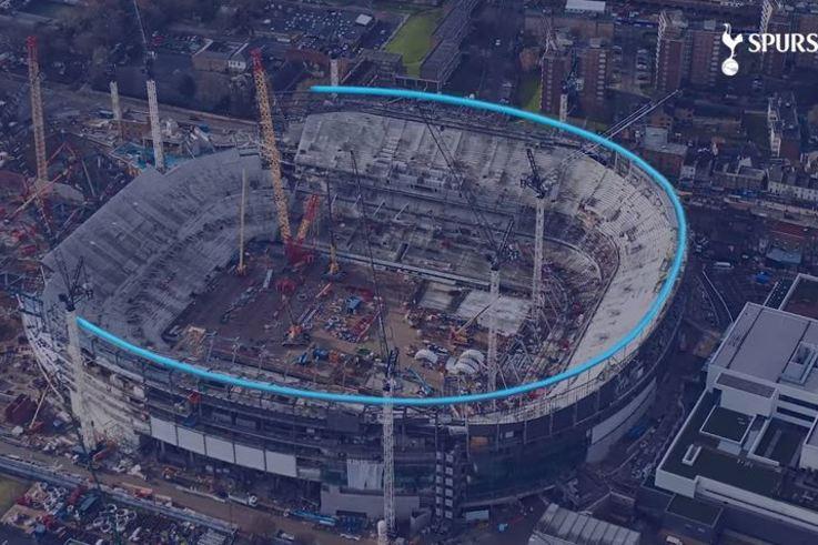 Tottenham Hotspur roof progress
