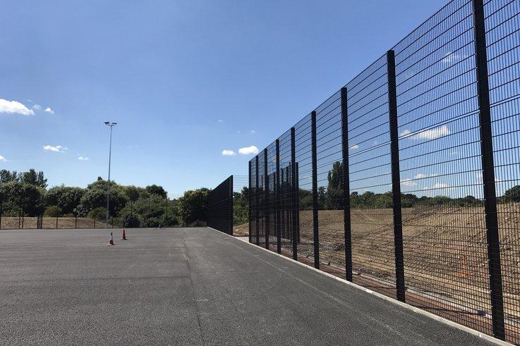 Sports pitches at Northampton uni