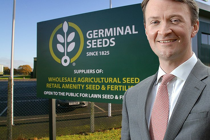 William Gilbert, managing director of Germinal Seeds GB, formerly British Seed Houses