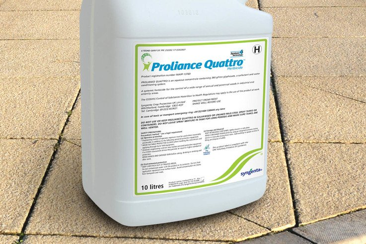 Fast moving new Proliance Quattro gives total weed control