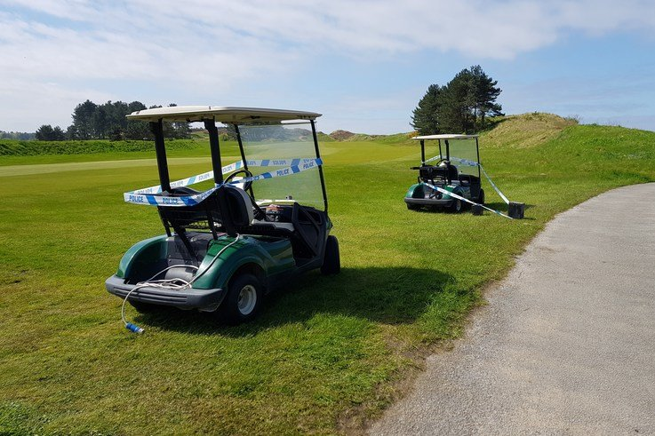 Golf Buggy Batteries Removed