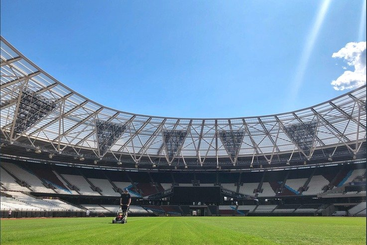 London Stadium Mowing