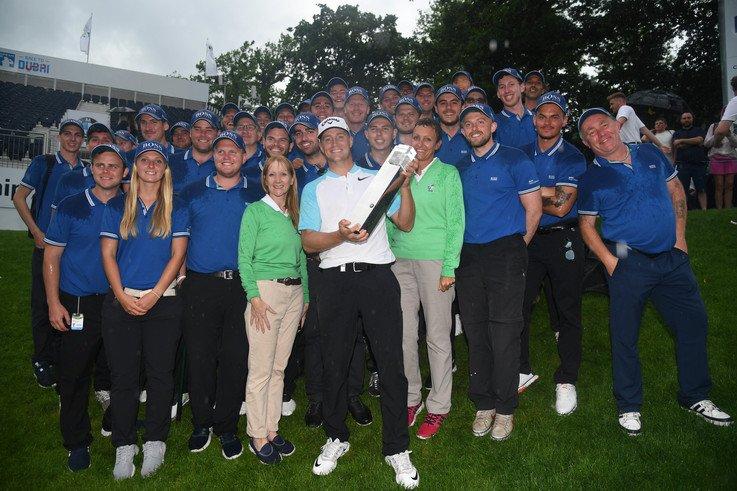 The BIGGA BMW PGA Championship Support Team with 2017 winner Alex Noren