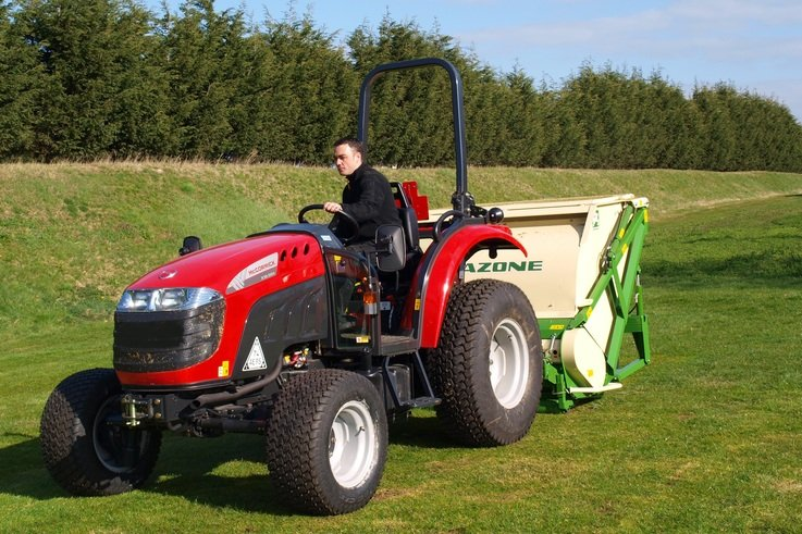 McCormick X10.55M + Amazone Groundkeeper flail mower scarifier collector 01
