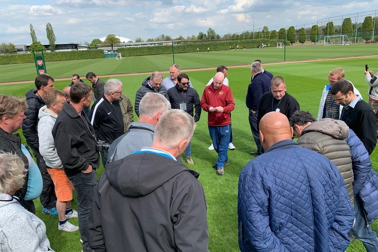 Campey Visit With GAD (Groundmen Association Of Denmark To Arsenal Training Grounds