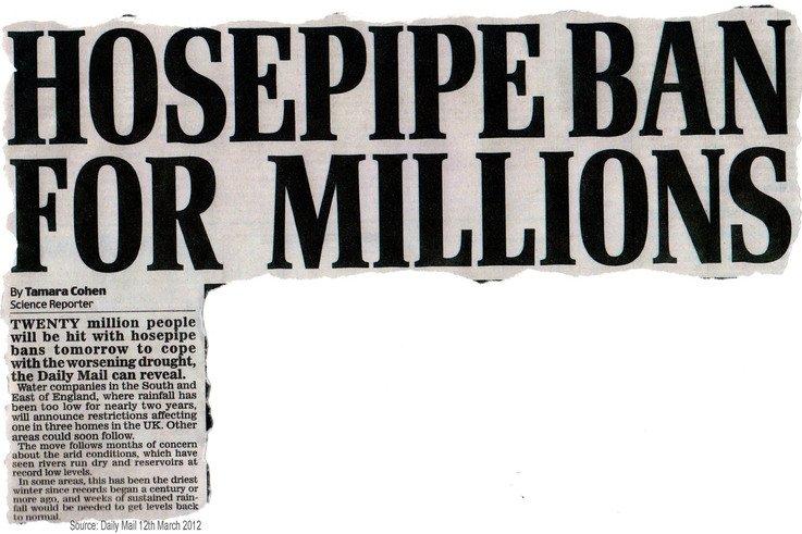 Hosepipe Ban 2012 Newsclip