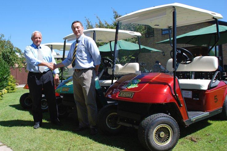 More E-Z-GO golf buggies for Parc Golf Club